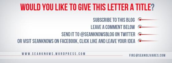 Name this Letter Sean Olivares