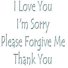 ILoveYou I'm Sorry Please Forgive Me thank you sean knows